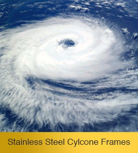 Cyclone-proof solar collector frame